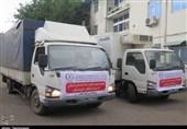 ارسال کانتینرهای آب توسط سپاه گیلان به خوزستان به روایت تصویر