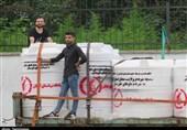 """""""سپاه گیلان"""" دومین مرحله تانکرهای آب را در قالب کمک مؤمنانه به خوزستان ارسال کرد"""