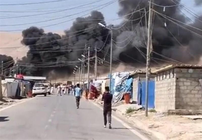 آتش سوزی مهیب در اردوگاه آوارگان سلیمانیه
