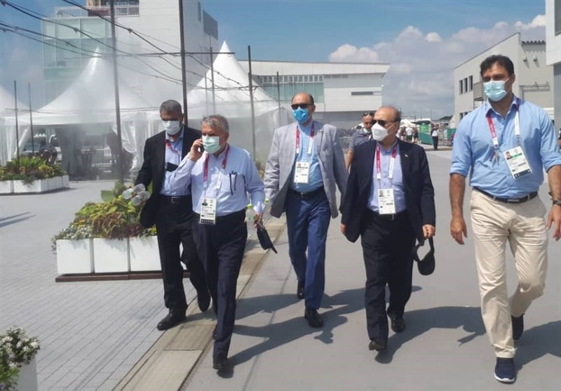المپیک 2020 توکیو  حضور سلطانیفر و صالحیامیری در محل مسابقه اولین نماینده ایران