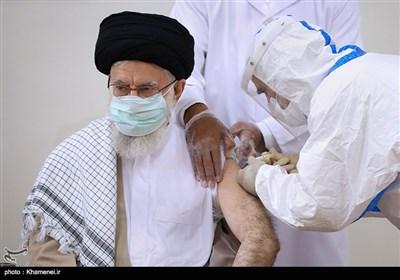 دریافت نوبت دوم واکسن ایرانی کرونا توسط رهبر معظم انقلاب