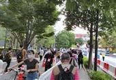المپیک 2020 توکیو  حال و هوای اطراف ورزشگاه میزبان مراسم افتتاحیه+عکس و فیلم