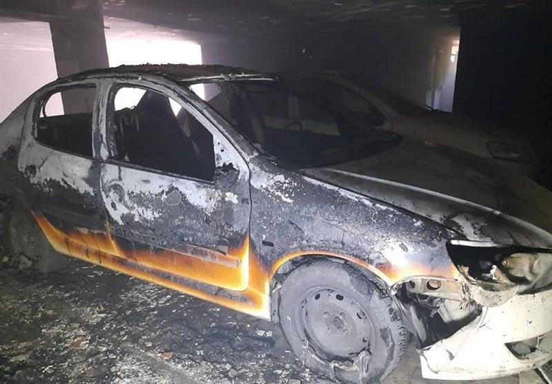 4 مصدوم بر اثر آتشسوزی شدید در ساختمان 8 واحدی + فیلم و تصاویر