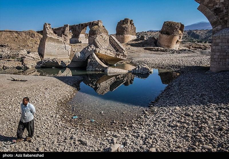 خشک شدن رودخانه کشکان لرستان