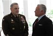 دیدار پادشاه اردن و رئیس ستاد مشترک ارتش آمریکا در واشنگتن