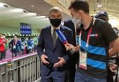 المپیک 2020 توکیو| حضور باخ در محل برگزاری رقابتهای تیراندازی