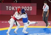 المپیک 2020 توکیو| سکوت کیانی و علیزاده در پایان مبارزه پرحرف و حدیث + فیلم