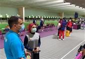 المپیک 2020 توکیو  سلطانیفر و صالحی امیری تماشاگر رقابت بانوی تیرانداز ایرانی