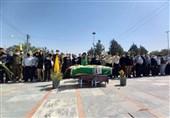 """پیکر """"شهید سید احمد قریشی"""" در کرج تشییع و به خاک سپرده شد"""