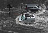 London Roads Flood As Storms Roll In