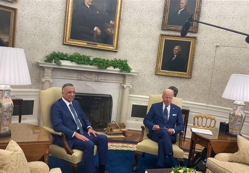 الکاظمی با رئیس جمهور آمریکا دیدار کرد/بایدن: حضور نظامی ما در انتهای 2021 به پایان میرسد