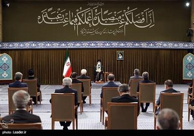آخرین دیدار رئیسجمهور و هیئت دولت دوازدهم با رهبر معظم انقلاب