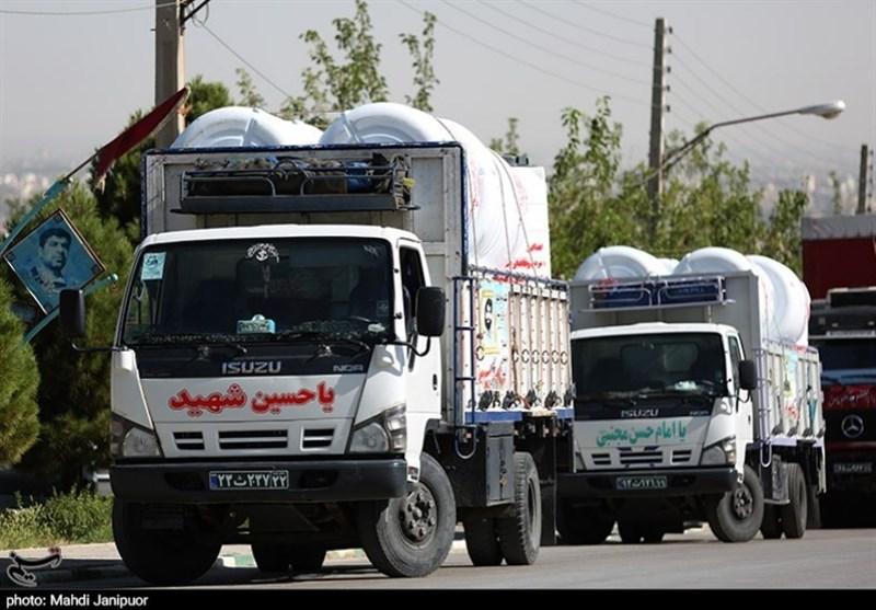 روایت تصویری تسنیم از ارسال تانکرهای آب توسط سپاه اصفهان به خوزستان