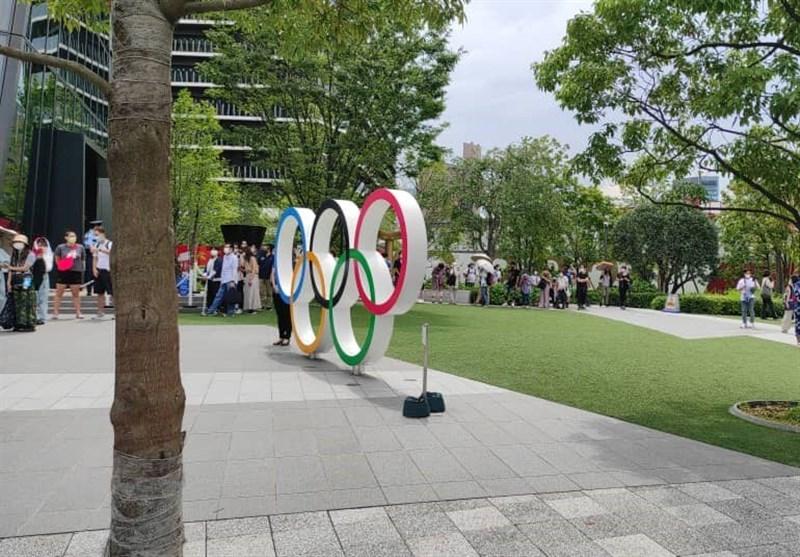 المپیک 2020 توکیو  صف طولانی ژاپنیها برای عکس با حلقههای المپیک + فیلم