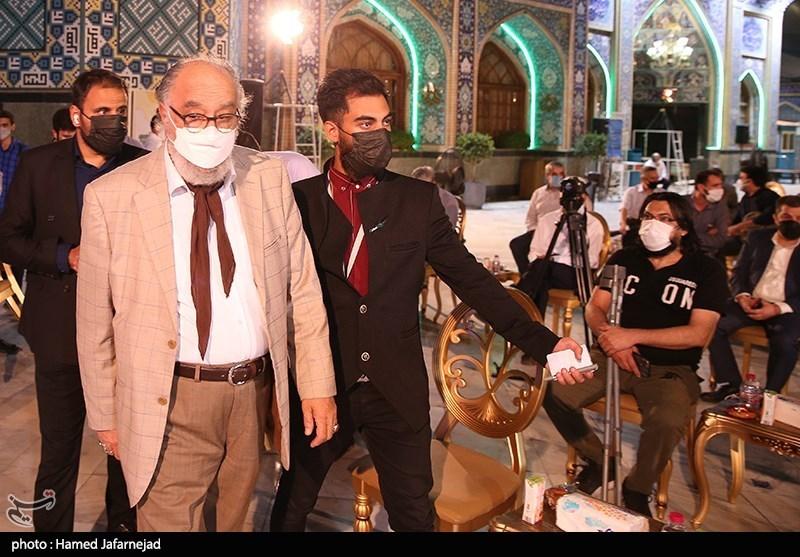داریوش ارجمند بازیگر سینما و تلویزیون در مراسم اختتامیه جشنواره بزرگ صالح