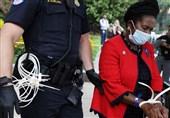 بازداشت سومین نماینده سیاهپوست آمریکایی در هنگام تظاهرات