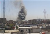 آتش سوزی در مرکز تجاری بغداد