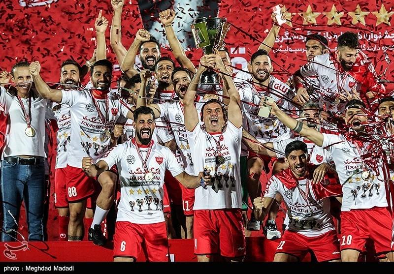 جشن قهرمانی پرسپولیس در لیگ بیستم