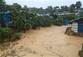 طوفان و سیل به کمپ پناهندگان روهینگیا در بنگلادش رحم نکرد