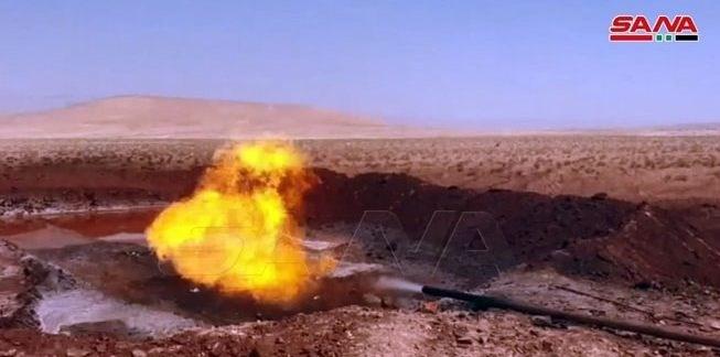 وزارة النفط السوریة تضع بئر دیر عطیة 5 الغازیة بالخدمة