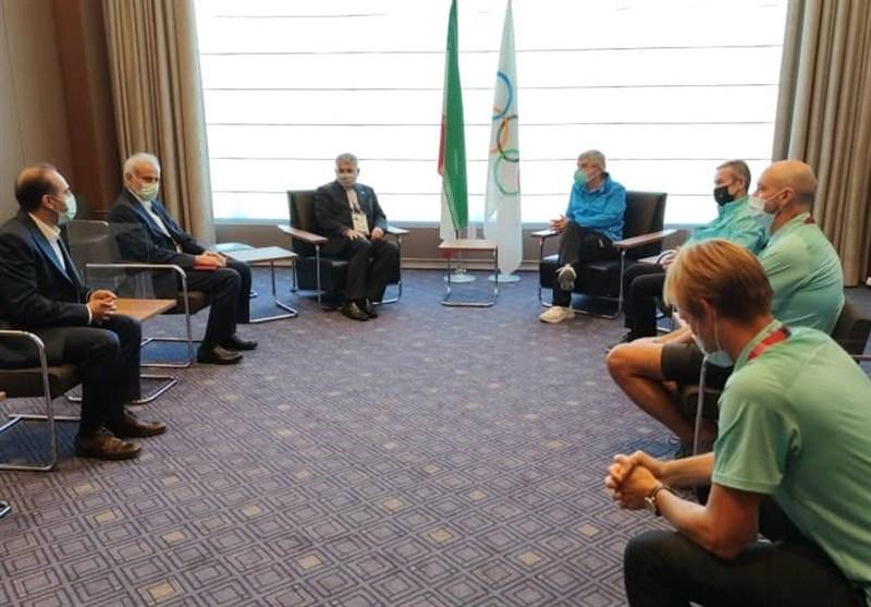 المپیک 2020 توکیو  دیدار صالحی امیری با رئیس کمیته بینالمللی المپیک