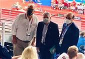 المپیک 2020 توکیو| دیدار صالحیامیری و لالوویچ در حاشیه مسابقات کشتی