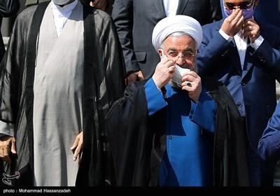 حجت الاسلام حسن روحانی در حاشیه آخرین نشست هیئت دولت دوازدهم