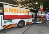 نخستین اتوبوس آمبولانس کشور در استان البرز رونمایی شد