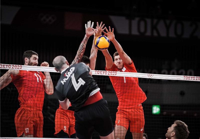 المپیک 2020 توکیو  صعود تیم ملی والیبال روسیه به نیمه نهایی