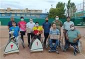 قهرمان جباری در مسابقات تنیس با ویلچر قهرمانی کشور