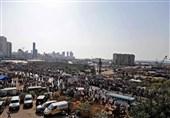 تظاهرات لبنانیها به مناسبت اولین سالگرد انفجار بندر بیروت