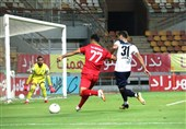جام حذفی فوتبال| برتری یک نیمهای فولاد مقابل ملوان