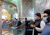 رئیس مجلس سنای پاکستان به حرم رضوی مشرف شد