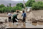 امدادرسانی جهادگران بسیجی به سیلزدگان الموت قزوین به روایت تصویر