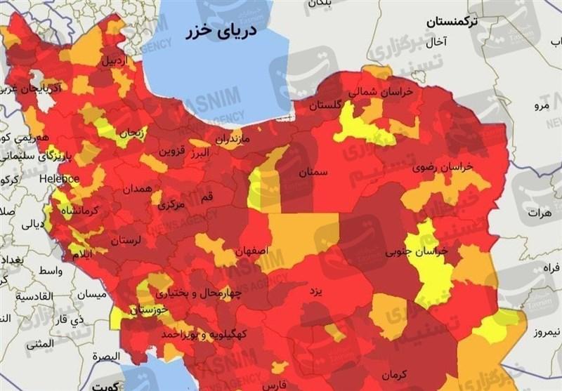 5 شهر آذربایجان شرقی به وضعیت زرد کرونایی بازگشتند/تبریز همچنان در وضعیت قرمز