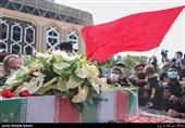 پیکر شهید امنیت در زادگاهش باغملک تشییع شد