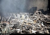 آتش سوزی کارخانه سیمان پاکدشت مهار شد