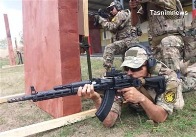 تمرینات تیم تیراندازی تاکتیکال یگان ویژه فاتحین در روسیه + عکس