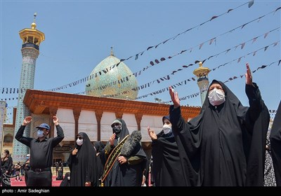 مراسم عزاداری عاشورای حسینی در حرم مطهر حضرت شاهچراغ(ع)