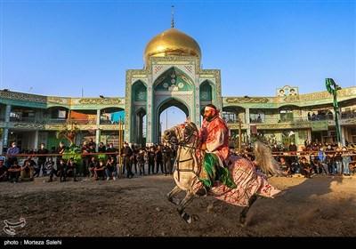 مراسم تعزیه شهادت امام حسین (ع) در حسینیه محله خولنجان اصفهان