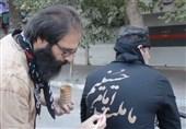 خوشنویسی با گِل در روز عاشورا / ما ملت امام حسینیم