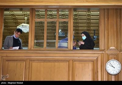 حضور خبرنگاران در بالکن صحن شورای شهر تهران