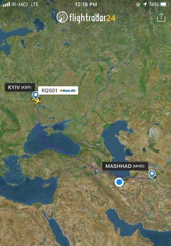 سازمان هواپیمایی هواپیماربایی را تکذیب کرد/ هواپیمای افغانستانی در فرودگاه مشهد سوختگیری کرد و ساعت 21:50 دیشب در فرودگاه کیف فرود آمد