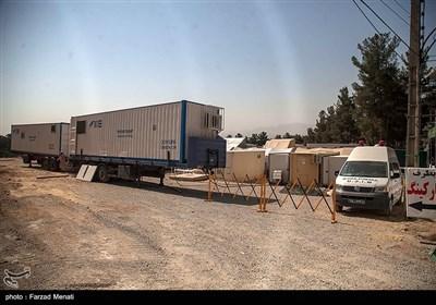 آماده سازی بزرگترین بیمارستان سیار کشور توسط نیروی زمینی سپاه در کرمانشاه