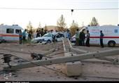 حادثه رانندگی در محور کرمان - باغین به روایت تصویر