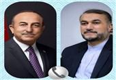 گفتگوی تلفنی وزیر خارجه ترکیه با امیر عبداللهیان