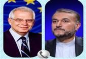تأکید امیر عبداللهیان بر لازم الاجرا بودن مصوبه هستهای مجلس در گفتگو با بورل