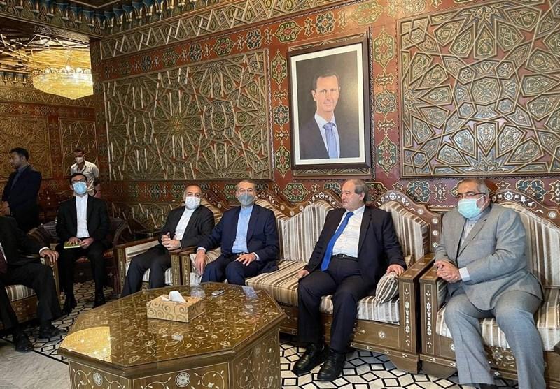 وزیر الخارجیة الایرانی یصل العاصمة السوریة دمشق
