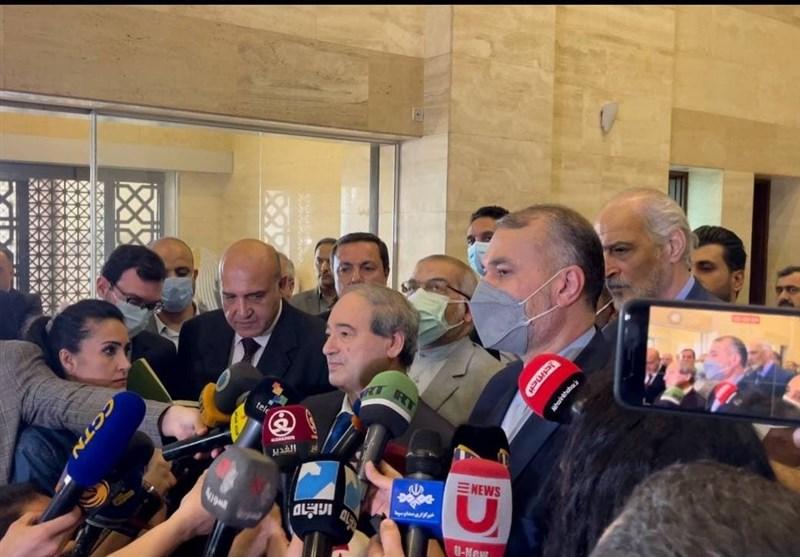 أمیر عبد اللهیان: وجود القوات الأجنبیة لا یقدم أی مساعدة لأمن واستقرار المنطقة +فیدیو