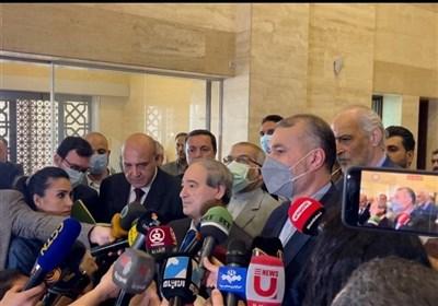 خلال مؤتمر صحفی مع عبداللهیان.. المقداد: نحن وإیران صمدنا سویا فی مواجهة الارهاب